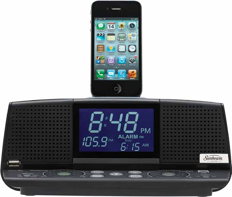Coffee Maker Alarm Clock Radio : Sunbeam Elite Clock Radio
